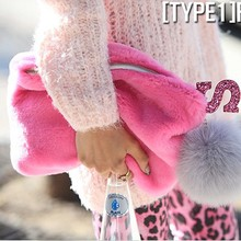 Alibaba in russian lady fashion bag manufacturer winter handbag fashion online shopping fur clutch bags SY5886