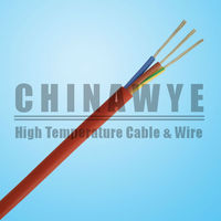 Silicone rubber insulated flexible electrical cable 4x2.5mm2