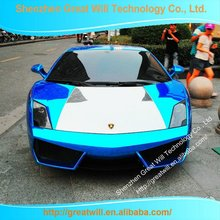 New Design Fashionable Chrome Blue Car Sticker Vinyl
