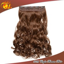 Wholesale remy human hair one piece full head clip in hair extensions