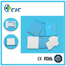 MERS ETO Serlie medical use Disposable nonwoven blue surgical drape Delivery pack