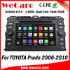Wecaro Android 4.4.4 car dvd player touch screen for toyota prado car radio mirror link 2006 - 2011