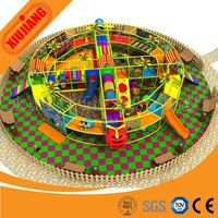 2015 special round shape children soft playground with big ball pool and plastic toy (XJ1001-5458)