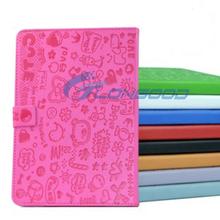 Cute Cartoon Animal Protect Cover PU Leather Case Stand For iPad Mini