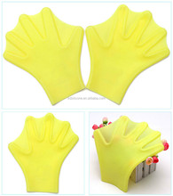Practical Silicone Swimming Hand Webbed Swim Palm Gloves