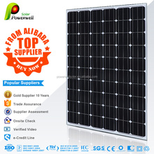 Powerwell Solar 260W Mono With CE/IEC/TUV/ISO/INMETRO/CEC Approval Standard solar panel for home