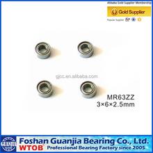 Professional Chrome Steel Miniature Ball Bearing MR63zz MR63