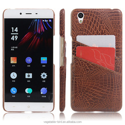 7 colors Stand Crocodile leather back cover for Oneplus X Case with card slots