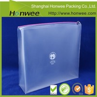 New custom promotional waterproof plastic bag with zipper