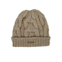 SELLING CUSTOM LEATHER PATCH LOGO KNIT BEANIE HAT FOR MEN AND WOMEN