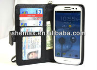 Deluxe Book Style Folio Wallet Leather Case For Samsung Galaxy S3 mini i8190