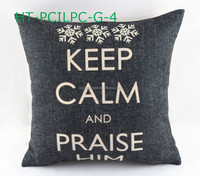 Retro Decorative pillow, Sofa Car Keep Calm Throw Pillow Case Linen Fabric Print Cushion Cover Customed Checkout Wholesale