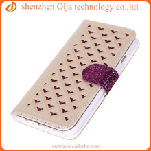 BlingBling wallet mobile phone case for iphone 6, for iphone6 fabric leather case