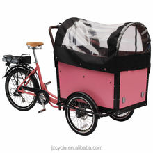 2014 Hot sell 3 wheels 2 seats electric tricycle with CE