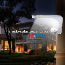 Small Outdoor Rechargeable Outside Solar Light Wooden Fences