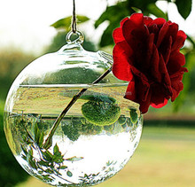 artificial flower glass hanging globe for wedding MH-12405