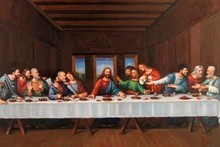 da vinci famous the last supper oil painting for bedroom