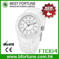 FT1304_WT Female Stainless steel back low cost wrist watch