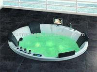 Embedded Big Round 4 Seats Massage Bathtub Indoor Home Bathtub Whirlpool Jet Relax Tubs With Sex TV