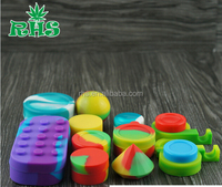 2015 hot selling wax atomizer silicone container for wax silicone wax jar silicone dab container