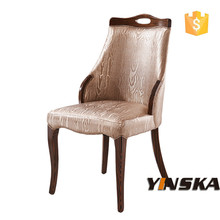 italy gold color high back dining chair