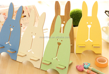 Korea style hot selling new design desk phone accessories fashion and cute wooden mobile phone holders