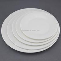 white round hotel ware plates, cheap white dinner plates for restaurant, hotel used dinner plates