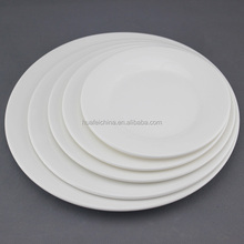 white round hotel ware plates, cheap white dinner plates for restaurant, hotel used dinner plates