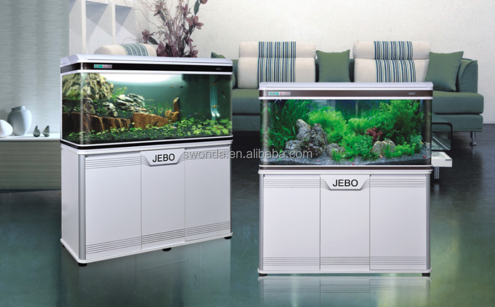 Top glass pedestal base hides 2 stage filter square table for Where to buy aquarium fish
