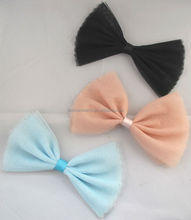 organza hair bow , hair bow for clip and headband, baby bows and girl bows