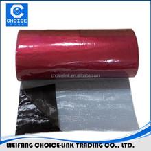 Aluminum foil modified bitumen adhesive flash tape
