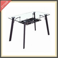 modern metal frame lego solid oak dining table set