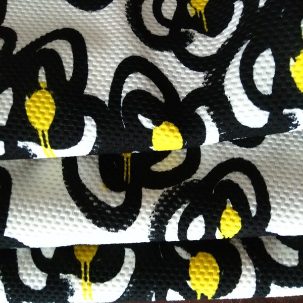 Double Sided Weft Knitted 100% Polyester Jacquard bubble Fabric for Garment
