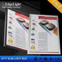 Edgelight AF17 aluminum frame double sided led light box classics hang type