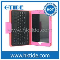 Gtide KB554 leather case mini bluetooth keyboard for ipad mini arabic letters