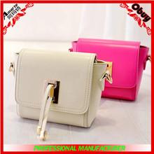new popular bright coloured women bag,ladies leather vanity bag