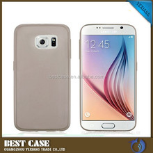 2015 new arrival soft clear tpu case for samsung galaxy s6, ultra thin 0.3MM