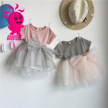 new fashion children baby girls pink wedding party high quality girls dresses