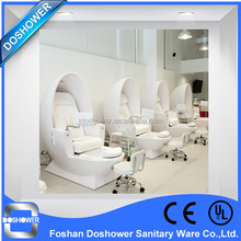 high quality small electric foot massage leather sofa chair / egg shape pedicure chair for beauty salon shop