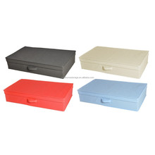 Fashion design collapsible storage container, polyester fabric underwear storage box