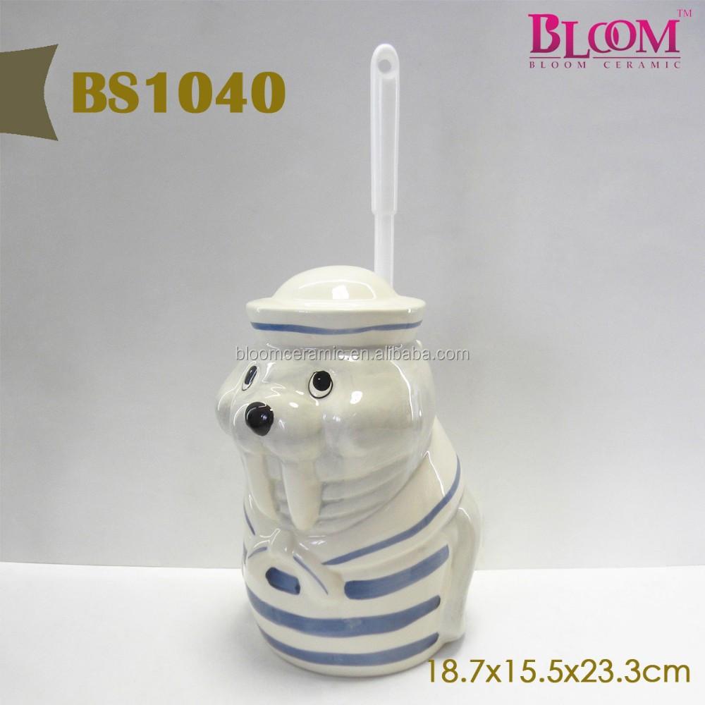 dolphin shape bathroom accessories toilet brush holder