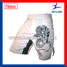 MMA short with dragon pattern,wholesale mma clothing