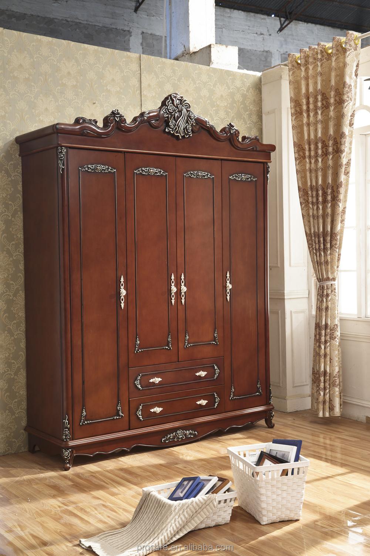 Style européen solide sculpture sur bois antique chambre meubles ...