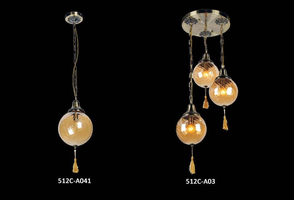 Turco de cristal soplado a mano lámpara colgante creativo retro ...