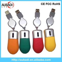 retractable usb custom 3d wired optical mini mouse
