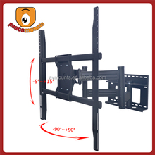 """Supports up to 250 lbs for 50"""" to 72"""" swivel and tilt Full Motion curved tv wall mount"""
