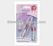 Led Tweezers Blister Packing Make up Tools Daily Tools Travel Necessities