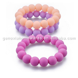 FDA&LFGB approved baby toy silicone chewing bead pendant with great price