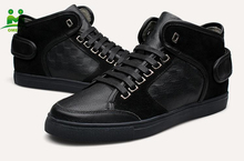 The latest Brand design popular cool man shoes leather sneakers