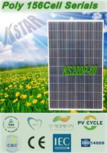Best price high efficiency solar cell 220w polycrystalline PV solar panel price/polycrystalline kingstar solar panel(KS220P-60)